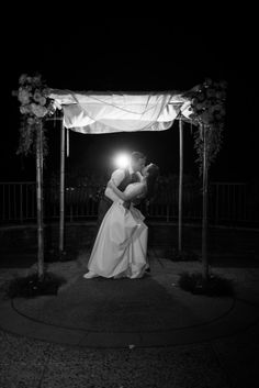 Chuppah in black and white // Found on Modern Jewish Wedding Blog // Photographer: Traci J. Brooks Studios