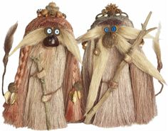 male and female troll couple Top Knot, Natural Materials, Troll, Headpiece, Take That, Forests, Tulip, Fairies, Woodland