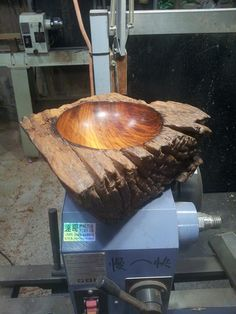 Live edge wood turning