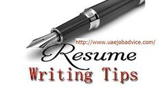 Job Advice to Job seekers in U.A.E and Middle east: Create resumes customized for the job
