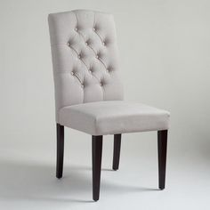One of my favorite discoveries at WorldMarket.com: Gray Tufted Chairs, Set of 2.  THese might be the ones