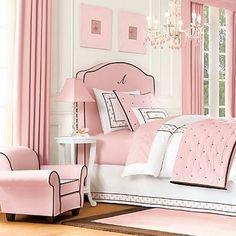pink & black bedroom by louellaa