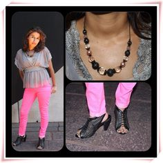 How to style hot pink jeans