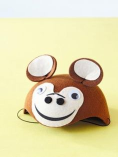 Birthday party ideas: Zoo. Create a hat like this and blend in while monkeying around!