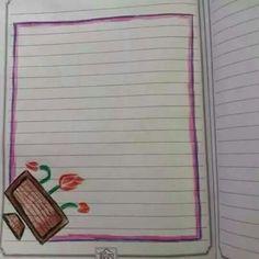 تزيين دفاتر (من افكار الاخرين) Page Borders Design, Border Design, Drawing Borders, Handwriting Examples, Cute Borders, Decorate Notebook, Notebook Design, Kid Activities, Diy For Kids