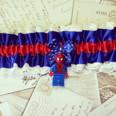 Spiderman Garter, Spiderman, Geek Garter, Superhero, Geek chic, Sci Fi, Retro TV, Vintage, Geek, Alternative, Offbeat, 80's TV, Marvel