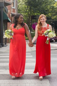 Red dresses are just as great as white dresses on your big day!