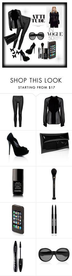 """Blackk"" by sunyna ❤ liked on Polyvore featuring rag & bone/JEAN, Preen, Jil Sander, Chanel, Lancôme, Diane Von Furstenberg, Edward Bess and Yves Saint Laurent"