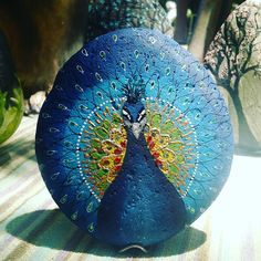 #elinaartdeco #freiasanisidro #pavoreal #animales #piedras #naturaleza #arte #decoracionrustica #unicos