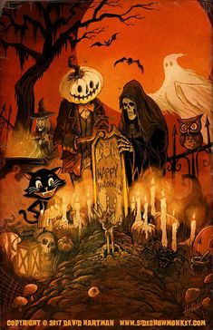 Halloween Shadow Box, Halloween Canvas, Halloween Artwork, Diy Halloween Costumes For Kids, Halloween Scene, Halloween Pictures, Creepy Halloween, Halloween Projects, Halloween Horror