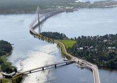 UK firm Knight Architects has revealed its plans for a bridge that will span over a kilometre across a bay in Helsinki, making it the longest bridge in Finland