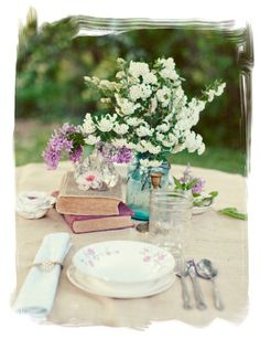 what a nice setup for a garden luncheon