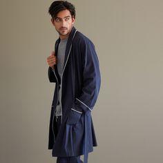 blue cotton dressing gown - Housecoat - Men's Homewear - Homewear | Zara Home Ireland