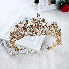 Women's Rhinestone / Imitation Pearl Headpiece-Wedding / Special Occasion / Casual Tiaras 1 Piece 5373684 2017 – $16.99