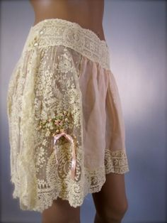 Weddbook is a content discovery engine mostly specialized on wedding concept. You can collect images, videos or articles you discovered  organize them, add your own ideas to your collections and share with other people | 1910's lingerie- Brussels lace tap pants with ribbon embroidery detail