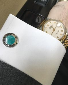 """Boost confidence and sexual energy with """"Elite & Luck"""" Green Chrysoprase Sterling Silver Cufflinks, Rhodium plated, Zodiac Model *** Exclusive Cufflinks for Pisces *** Available now at www.eliteandluck.com"""