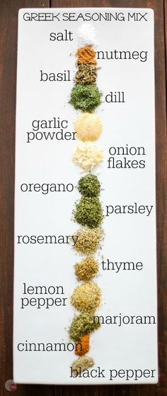 Greek Seasoning Mix - How to Make it Homemade for Less Want a new spice mix to dress up your chicken or steak? Try this Greek Seasoning Mix you can make at home! Homemade Spice Blends, Homemade Spices, Homemade Seasonings, Spice Mixes, Greek Seasoning, Seasoning Mixes, Greek Spices, Lemon Pepper Seasoning, Greek Recipes