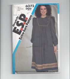 Simplicity 6072 Pattern for Misses' Loose Fitting Pullover Dress, ESP, Extra Sure Pattern, Sz 16-20, Factory Folded, Uncut, Vintage Pattern by VictorianWardrobe on Etsy