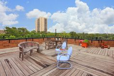ENORMOUS TERRACE WITH THE COVETED DOWNTOWN VIEW WITH ROOM FOR BAR-B-QUE AND CONVERSATION AREAS.