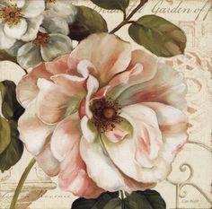 flores vintage Trademark Fine Art Les Jardin II Ca - vintage Art Floral, Motif Floral, Floral Design, Framed Art Prints, Painting Prints, Fine Art Prints, Framed Wall, Paintings, Decoupage Vintage