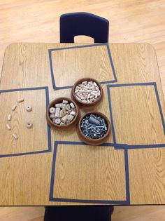 Loose Parts: Adding frames with black bristol board as a canvas for creation.