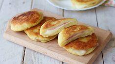Pains de pommes de terre farcies au jambon et fromage Pains, Entrees, Hamburger, Pancakes, Bread, Breakfast, Food, Potato Bread, Stuffed Potatoes