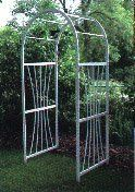 Dura-Trel 11109 4-Feet Grapevine Arbor by Dura-Trel, Inc.. $141.76. 20 Year Warranty; 100-percent maintenance free; PVC vinyl will not crack, fade, peel or discolor. Walkthrough Dimensions: 48-inch wide x 80-inch high x 28-inch deep. 1 by 1.5-Inch legs with round style arbor top. Easy to Assemble; pre-cut and pre-drilled holes with all hardware included. Easy to Install; 12-inch ground anchors included. Made in USA. This classic looking arch topped arbor is easy t...