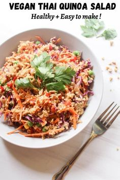 A light yet super flavourful Thai inspired quinoa salad that is extra crunchy & really easy to make ! Perfect as a light lunch or sides.