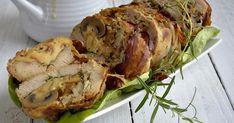 Rolada z piersi indyka, z wędzonym serem, z pieczarkami, Mięso na obiad, Filet z indyka Feta Chicken, Skinny Recipes, Skinny Meals, Spinach And Feta, Poultry, Pork, Food And Drink, Turkey, Cooking