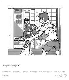Too much cuteness to handle, send help *dies Nishinoya Yuu, Haikyuu Karasuno, Kagehina, Haikyuu Funny, Haikyuu Manga, Manga Anime, Kuroken, Bokuaka, Hinata