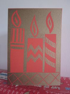 Christmas Candle Card £2.50