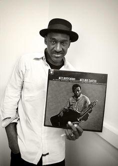 Marcus Miller with his favourite Miles Davis album
