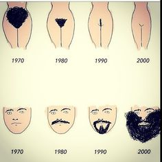 Coincidence? I doubt it. But then I've always been a fan of shaved everything... except a woman's head of course.