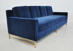 Paul McCobb Brass Frame Sofa | From a unique collection of antique and modern sofas at https://www.1stdibs.com/furniture/seating/sofas/