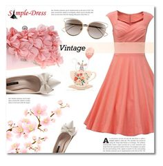 """""""Simple-dress contest"""" by dolly-valkyrie ❤ liked on Polyvore featuring Christian Dior and vintage"""