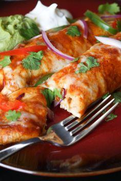 Fajita Enchiladas via @April