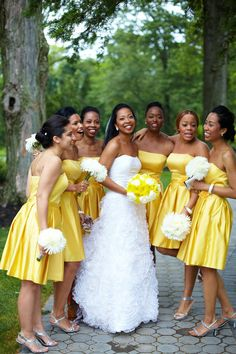 I think most people I know would hate me for putting the in yellow bridesmaid dresses. But I like them...