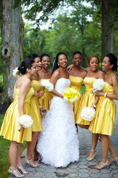 yellow bridesmaid dresses.