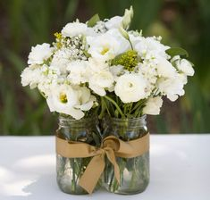 [tps_header]Got a lot of mason jars that you don't need? Guys, I've found so many creative ways to use them for your wedding decor! Mason jars are ideal as centerpieces – just add some water, flowers and stones on the. Mason Jar Centerpieces, Wedding Centerpieces, Wedding Decorations, Centerpiece Ideas, Table Decorations, Centerpiece Flowers, Rustic Centerpieces, Carnation Centerpieces, Inexpensive Centerpieces
