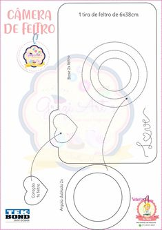 Foam Crafts, Diy And Crafts, Paper Crafts, Arts And Crafts, Kawaii Disney, Disney Coloring Pages, Felt Patterns, Travelers Notebook, Kids Cards