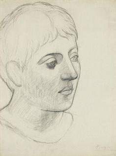 Pablo Picasso ( (1881 - 1973), Tête de jeune homme.