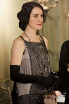 Lady Mary dressed for dinner. Downton Abbey