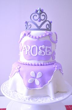 Sofia The First Cake, Cake Youtube, Cake Pictures, Fondant, Rose, Desserts, Cakes, Cookies, Food Cakes