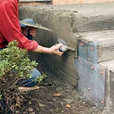 to Clad Concrete Steps in Stone Photo: Kolin Smith Concrete Projects, Outdoor Projects, Home Projects, Concrete Tools, Concrete Stone, Concrete Design, Concrete Blocks, Brick Steps, Cement Steps