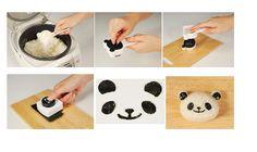 How to make panda onigiri