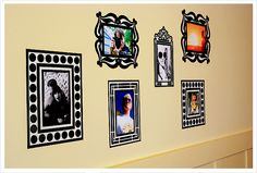 you won't even miss hanging real frames with fun, modern photo frame decals or printouts