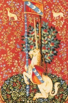 Picture of Unicorn Tapestry (Red)