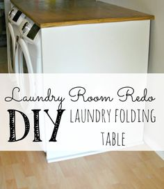 How to build a laundry folding table to fit over a front load washer and dryer Laundry Shelves, Laundry Room Storage, Closet Storage, Build A Table, Make A Table, Diy Table, Laundry Folding Tables, Laundry Room Tables, Stores
