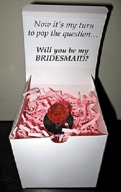 Will You Be My BRIDESMAID? Love this!