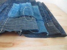 Antique Japanese indigo boro patchwork textile/scarf. $140aud www.naturecollect.com